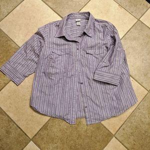 Lavender purple shirt size 18/20W from Fashion Bug